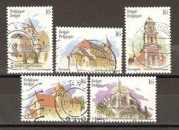 Belgique - 1994 - Tourisme, Eglises - Série Complète° 2561/65 - Bertem - Kanegem - Schaerbeek - Aubechies - St Séverin - Oblitérés