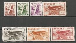 CAMEROUN - PA Yv. N° 22 à 28  *  25c à 20f  Sans RF  Cote 3,9euro BE 2 Scans - Cameroun (1915-1959)