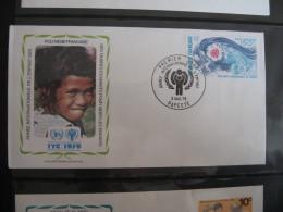 FDC 1979 - POLYNESIE FRANCAISE  : Internationales Jahr Des Kindes   -   1 - Francobolli