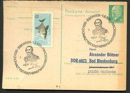 BOTANIKER NEILREICH Wien 1971 Auf DDR P77A Antwort-Postkarte ZUDRUCK BÖTTNER #4 - Pflanzen Und Botanik