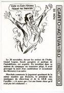 CARTO ACTUA B D     ILLUSTR. CABU    20 NOV   1982    CONTRE LES FUSEES PERSHING - Cabu