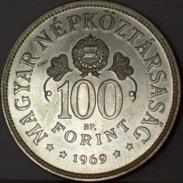 UNGHERIA 100 Forint 1969 Argento Silver - Ungheria