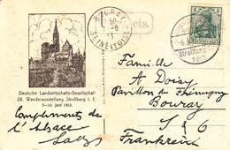 TàD Landwirtschaftliche Ausstellung Straßburg (Els) 1913 Du 6.6.13 Sur CP Adressée à Bouray - Marcophilie (Lettres)