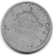 *switzerland 1/2 Franc 1879   Km 23  Vg+ - Suisse