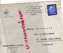 ALLEMAGNE- STUTTGART -ALFRED ROHM & CO-  - A PIERRE PERUCAUD MEGISSERIE SAINT JUNIEN-1920 GANTERIE - Germany