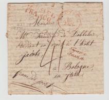 B001a / Brüssel, Franco, Franko Fussen, Alta Germania Nord Nach Bologna Ohne Jahresangabe - 1815-1830 (Holländische Periode)