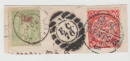 CH-AP30 / CHINA -  Seltne Stempelkombination Von 3 Postdiensten ,Ttientsin 1900 - China