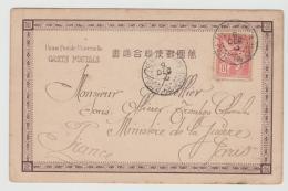 FAS008 / Tientsin, Franz. Post 1903 Nach Paris. Bildkarte Umseitig Vom Jap. P.A. Tientsin - China (1894-1922)