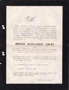 TONGRES Burgemeester Joseph-Laurent JAMINE Maastricht 1797-1883 Congrès National 1830 Croix De Fer Limbourg - Overlijden