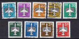 DDR Flugpostmarken 2751-2753,2831-2832,2868,2967,3128-3129 Gestempelt Komplett - DDR