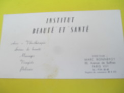Carte Commerciale/Institut Beauté Et Santé/Marc Bonnefoy/Av De Suffren/ Paris 7éme//vers 1960              CAC63 - Droguerie & Parfumerie