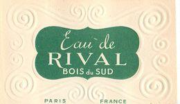"""EAU DE RIVAL - """"BOIS DU SUD"""" - CARTE PARFUMEE ANCIENNE (5,2 X 8,5 Cm)  - TB** - Perfume Cards"""