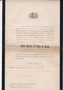 ZOUAVE PONTIFICAL Baron Georges De ROSEN De HAREN 1850-1895 Burgemeester SCHAESBERG Kasteel STRYTHAGEN LIMBURG - Todesanzeige