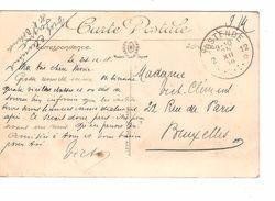 CP Dinard En SM écrite Par 1 Militaire C.Fortune Agence Oostende 12 25/12/1918 V.BXL PR4834 - Postmark Collection