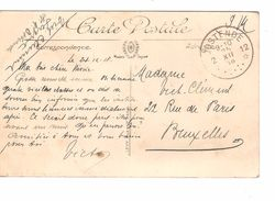 CP Dinard En SM écrite Par 1 Militaire C.Fortune Agence Oostende 12 25/12/1918 V.BXL PR4834 - Fortune Cancels (1919)