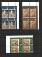 Gambia, 1974 Michelangelo Birth Anniversary Complete Set In MNH Corner Blocks Of Four (5619) - Gambia (1965-...)