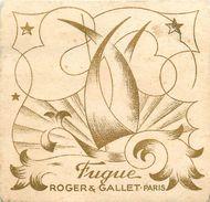 "PARFUM ROGER GALLET - ""FUGUE!"" -RARE CARTE PARFUMEE ANCIENNE . - Perfume Cards"