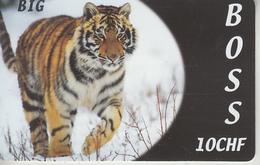 SWITZERLAND - PHONE CARD  ***   PRÉPAID CARD - TIGRE  *** - Dschungel
