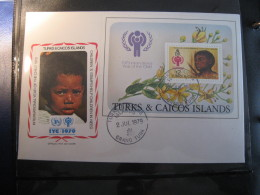 FDC 1979 -  TURKS CAICOS ISLANDS  : Internationales Jahr Des Kindes   -   1 - Francobolli