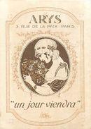 "PARFUM ARYS - ""UN JOUR VIENDRA"" - CARTE PARFUMEE ANCIENNE . - Perfume Cards"