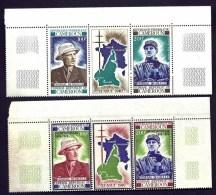 LOT 6 TIMBRES GENERAL DE GAULLE- CAMEROUN- 2 TRIPTYQUES DIFFERENTS NEUFS**- COINS DE FEUILLE- - De Gaulle (General)