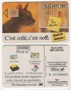 TELECARTE 120 UNITES POST-IT DE 3M - CHAT ET CANARI / PAS TOUCHE ! - 02 93 - 1 200 000 EX - Advertising