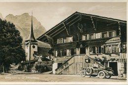 SWITZERLANd - RPPC -  Gsteig Mit Schlauchhorn - VG Vintage Car Etc - BE Berne
