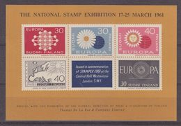 Great Britain 1961 Stampex (with Europa Stamps 1960) M/s (37061) - 1960
