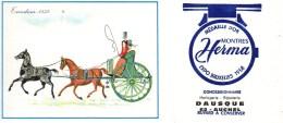 Buvard Montres Herma Expo Bruxelles 1958 Concessionnaire Dausque à AUCHEL (2) - Buvards, Protège-cahiers Illustrés