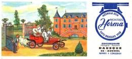 Buvard Montres Herma Expo Bruxelles 1958 Concessionnaire Dausque à AUCHEL (3) - Buvards, Protège-cahiers Illustrés