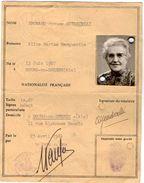 VP11.267 - MILITARIA - BOURG EN BRESSE -  Préfecture De L'AIN - Ancienne Carte D'Identité - Police & Gendarmerie