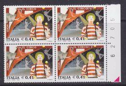 Europa Cept 2002 Italy 1v Bl Of 4 ** Mnh (37062A) - Europa-CEPT