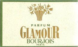 "PARFUM BOURJOIS - ""GLAMOUR"" - CARTE PARFUMEE ANCIENNE . - Perfume Cards"