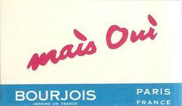 "PARFUM BOURJOIS - ""MAIS OUI"" - CARTE PARFUMEE ANCIENNE . - Perfume Cards"