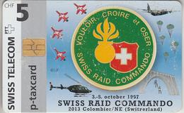 SUISSE - PHONE CARD - TAXCARD-PRIVÉE - CHIP KC 97  ***  SWISS RAID COMMANDO  *** - Schweiz