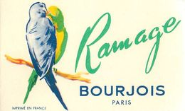 "PARFUM BOURJOIS - ""RAMAGE"" - CARTE PARFUMEE ANCIENNE . - Perfume Cards"