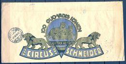 """1931 , AUSTRIA , MAGNÍFICO Y RARO CERTIFICADO LINZ - SOLOTHURN , PUBLICIDAD """" CIRCUS SCHNEIDER """" . VER FOTOS. - Covers & Documents"""