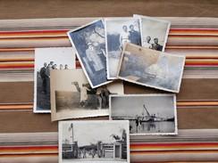 Lot De 8 Photos Philipponnat 137 Eme Bataillon De L'Air Casablanca, La Ciotat, Rarecourt, Rosman Ste Menehould - Krieg, Militär