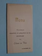 Feestmaal HUWELIJK Van LILIANE En THEO Op 29 Dec 1954 ( Zie Foto's ) ! - Menus
