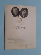 Menu / DINER Mr. & Mme JULES FLERACKERS-GOOSSENS 1921-1946 Noces D'Argent ( Zie Foto's ) ! - Menus