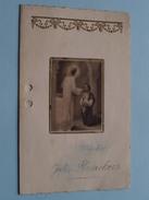 Spijskaart Plechtige COMMUNIE Borgerhout 12 Mei 1929 > JOZEF FLERACKERS ( Zie Foto's ) ! - Menus