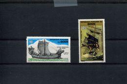 482771470 1984  ** MNH YVERT 332 333 SCHEPEN - Bénin – Dahomey (1960-...)