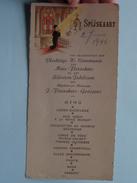 Spijskaart Plechtige H. COMMUNIE Marc FLERACKERS & Zilveren Jubileum Flerackers-Goossens 1946 ( Zie Foto's ) ! - Menus