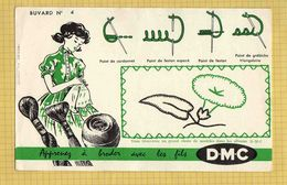 BUVARD  :  Apprenez A Broder DMC  N° 4  Vert - Textile & Clothing