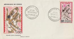 Enveloppe  FDC   1er   Jour    CONGO      JEUX   SPORTIFS   AFRICAINS      Basket Ball   1962 - Pallacanestro