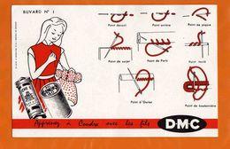 BUVARD  : Apprenez A Coudre Avec Les Fils DMC N°1 Rouge - Textile & Clothing