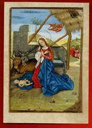 Image Pieuse Holy Card Ed Abbaye D' Encalcat Imp. Draeger 27 - Heures D'Angoulême - Crèche âne Boeuf Jésus Marie .. 1956 - Imágenes Religiosas