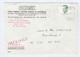 1984 BELGIUM OCASC  COVER Office Central D'Action Sociale Et Culturelle , Stamps - Belgium