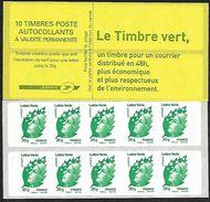 "France 2011 - Yv N° 604 - C2 ** - Marianne De Beaujard ""Lettre Verte"" - Carnets"