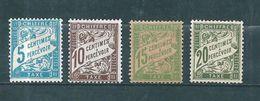 France  Timbre Taxe De 1893/1935  N°28 A 31  Neuf *  Cote 53€20 - Taxes